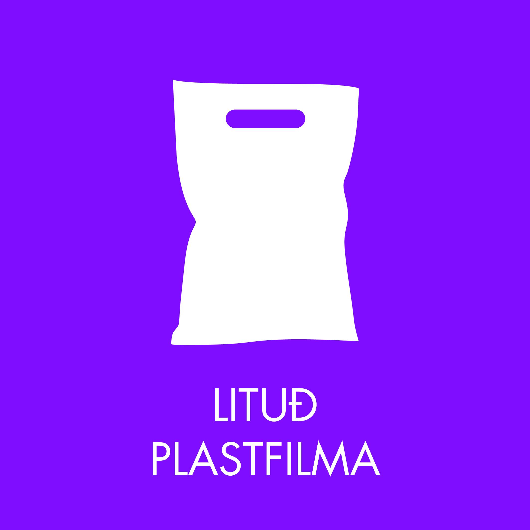 Lituð plastfilma