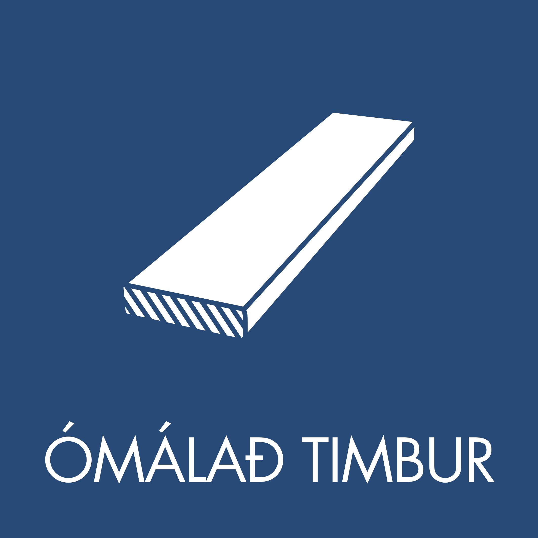 Ómálað timbur